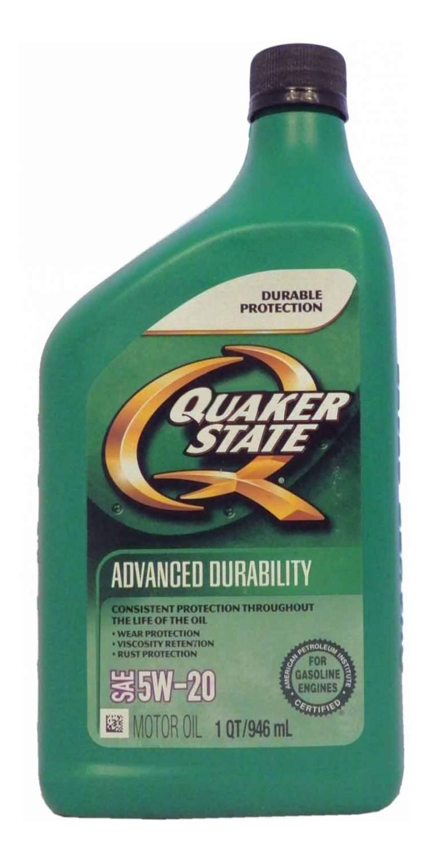 Quaker State Advanced Durability SAE 5W-20 Motor Oil