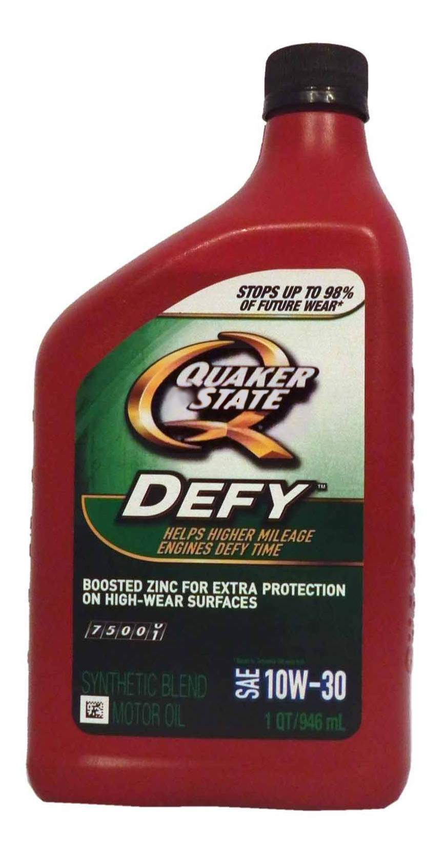 Quaker State Defy Synthetic Blend SAE 10W-30 Motor Oil