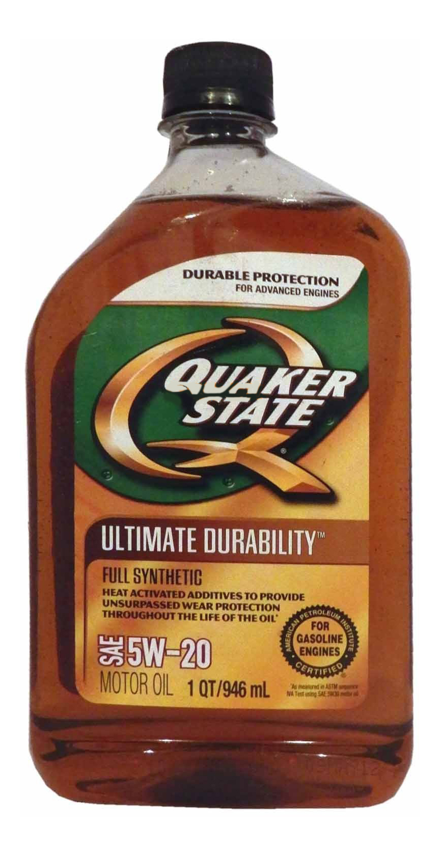 Quaker State Ultimate Durability SAE 5W-20 Full Synthetic Motor Oil