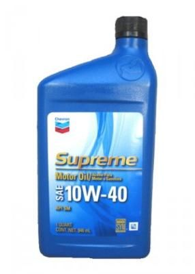 Chevron Supreme Motor Oil SAE 10W-40