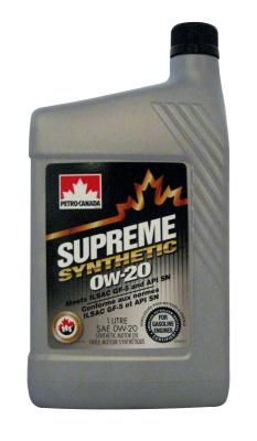 Масло моторное Petro-Canada Supreme Syntetic 0W-20