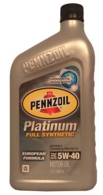 Pennzoil Platinum European Formula 5W-40