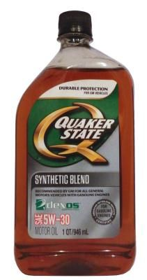 Масло моторное Quaker State 5W-30 Synthetic Blend Motor Oil