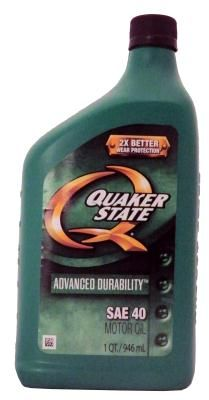 Quaker State Advanced Durability L 40 Motor Oil