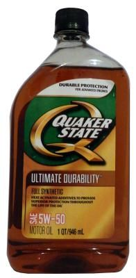 Quaker State Ultimate Durability SAE 5W-50 Full Synthetic Motor Oil