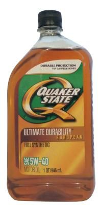 Quaker State Ultimate Durability European Full Synthetic 5W-40 Motor Oil