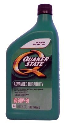 Масло моторное Quaker State Advanced Durability SAE 20W-50 Motor Oil