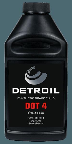 Тормозная жидкость DETROIL DOT 4 Synthetic Brake Fluids (0.455г)