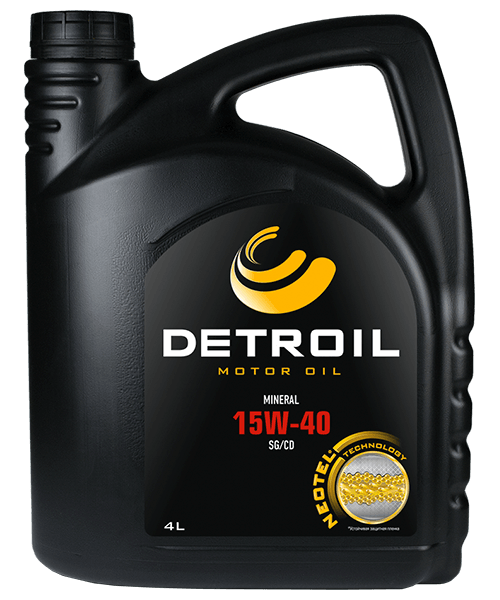 Масло DETROIL 15W-40 Mineral (4л)
