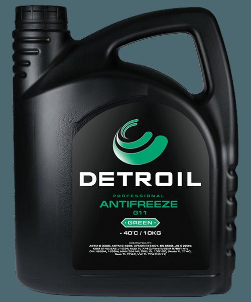 Охлаждающая жидкость DETROIL Antifreeze G12 RED (10кг)