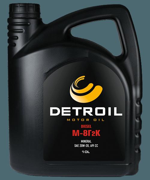 Масло DETROIL Diesel М-8Г2к Mineral (10л)