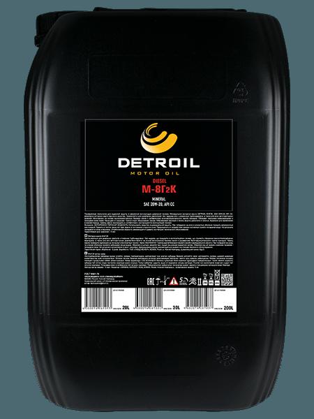 Масло DETROIL Diesel М-8Г2к Mineral (20л)