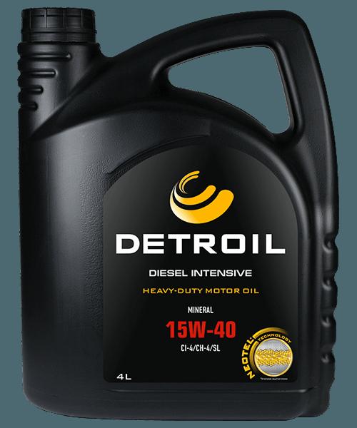 Масло DETROIL Diesel Intensive 15W-40 Heavy Duty (4л)