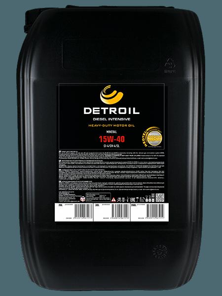 Масло DETROIL Diesel Intensive 15W-40 Heavy Duty (20л)