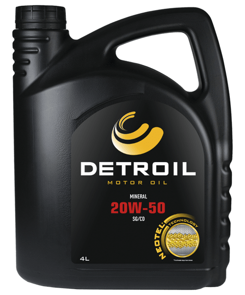 Масло DETROIL 20W-50 Mineral (4л)