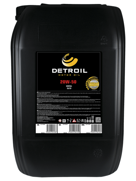 Масло DETROIL 20W-50 Mineral (20л)