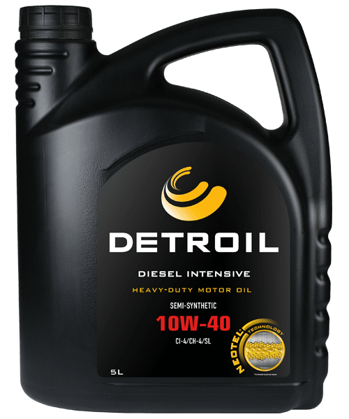 Масло DETROIL Diesel Intensive 10W-40 Heavy Duty (5л)