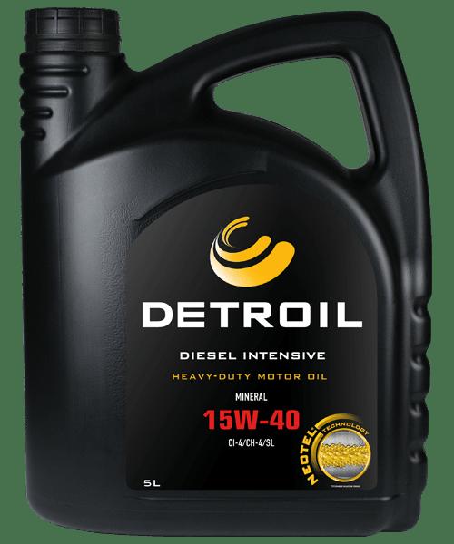 Масло DETROIL Diesel Intensive 15W-40 Heavy Duty (5л)