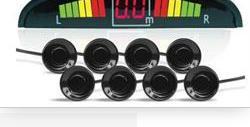 Парктроник ps-128u (8 датчиков+коннекторы, цветной светодиодный дисплей с цифровым табло) AVS A78014S