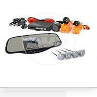 Парковочный радар зеркало заднего вида с tft 3,5 монитором+камера +4 датчика 20mm tft728sc4 sil SVS 0380002000