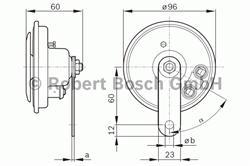 Сигнал звуковой Bosch 0 986 320 191