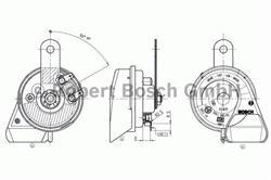 Сигнал звуковой Bosch 9 320 335 207