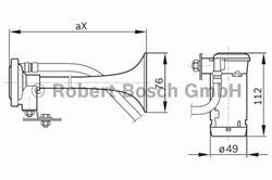Сигнал звуковой Bosch 0 328 006 002