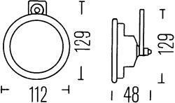 Зуммер включения фар Hella 3SB 002 768-031