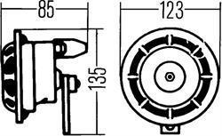 Комплект звуковых сигналов Hella 3AG 003 399-801