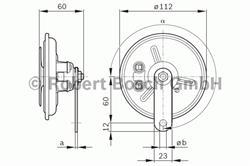 Сигнал звуковой Bosch 0 986 320 311
