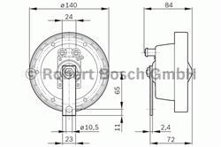 Звуковой сигнал Bosch 0 320 223 003