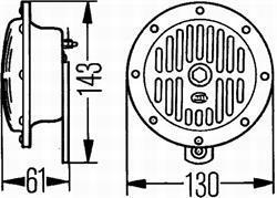 Комплект звуковых сигналов Hella 3CB 004 811-042
