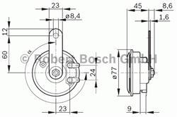 Сигнал звуковой Bosch 9 320 332 802