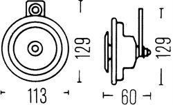 Сигнал звуковой Hella 3BA 922 200-827