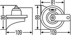 Комплект звуковых сигналов Hella 3FH 007 424-801