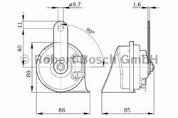 Сигнал звуковой Bosch 9 320 335 007