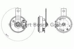 Сигнал звуковой Bosch 6 033 FB4 103