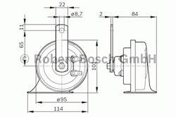 Сигнал звуковой Bosch 0 986 AH0 501