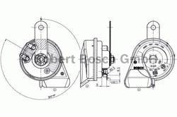 Сигнал звуковой Bosch 9 320 335 208
