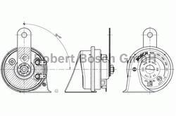 Сигнал звуковой Bosch 6 033 FB1 214