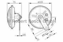 Сигнал звуковой Bosch 0 986 320 307