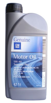 General Motors Motor Oil SUPREME PLUS