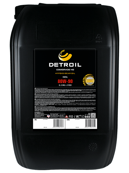Масло DETROIL Comgrade HG 80W-90 GL-5 Mineral (20л)