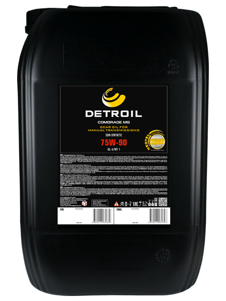 Масло DETROIL Comgrade MG 75W-90 GL-4 Semi-Synthetic (20л)